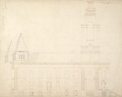 [Elevation of a design of St Anne's Church] for Limehouse